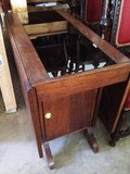 Antique Drop Leaf Table with Side Cabinet in DeRidder, Louisiana