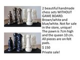 2 chess sets - $ 75 each in Baumholder, GE