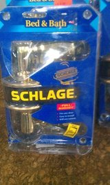 Schlage Bright Brass Hall & Closet Fancy Door Knob in Chicago, Illinois