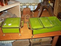 Vintage Avocado Green 2 pc warming set in Naperville, Illinois